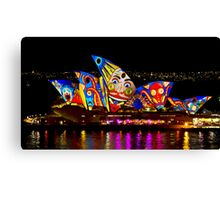 Clown Sails - Sydney Vivid Festival - Sydney Opera House Canvas Print