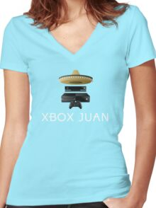 Xbox Juan - Colored Women's Fitted V-Neck T-Shirt