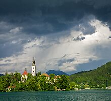 Storm light over Lake Bled by Ian Middleton