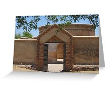 Doorway to the Past Greeting Card