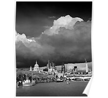 Stormclouds over London Poster