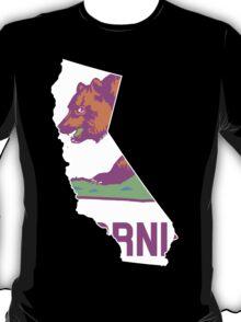 California State Outline [ Purp Green ]   SteezeFSC T-Shirt
