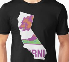California State Outline [ Purp Green ] | SteezeFSC Unisex T-Shirt