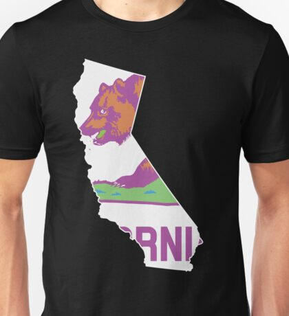 California State Outline [ Purp Green ] | SteezeFSC Unisex T-Shirt