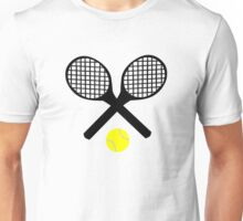 Tennis Rackets and Tennis Ball Unisex T-Shirt