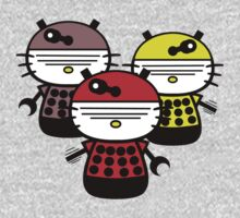 Dalek Kitty Invasion by PaperGoblin