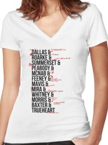 In Death Characters Women's Fitted V-Neck T-Shirt