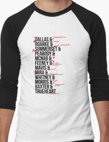 In Death Characters Men's Baseball ¾ T-Shirt