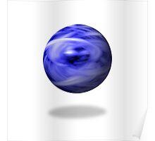 Blue Flame Globe Poster