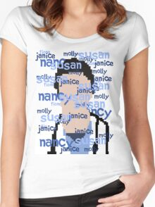 JD - Names Women's Fitted Scoop T-Shirt