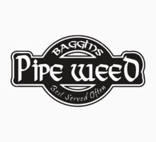LOTR - Baggins Pipe Weed by MajorTees