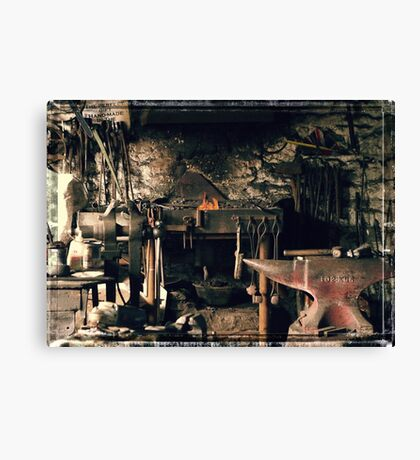 Blacksmith's office Canvas Print
