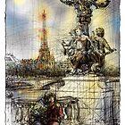 Paris 7 in colour by Tatiana Ivchenkova