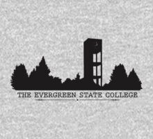 The Evergreen State College Clock Tower One Piece - Short Sleeve