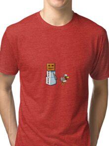 Minecraft Snowman & Chicken Tri-blend T-Shirt