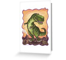 Animal Parade Tyrannosaurus Greeting Card