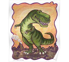 Animal Parade Tyrannosaurus Poster