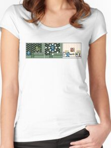 MegaMan Abusing His Power Women's Fitted Scoop T-Shirt