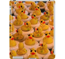 Lots Of Yellow Rubber Ducks With Sunglasses iPad Case/Skin