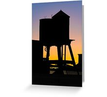 Autumn Rooftops Greeting Card