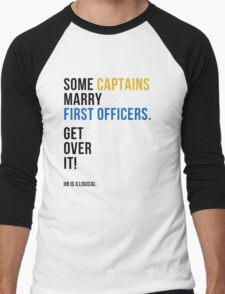 some captains marry first officers Men's Baseball ¾ T-Shirt