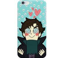 Sherlock and his skull posse iPhone Case/Skin