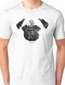 mops puppy white - french bulldog, cute, funny, dog T-Shirt
