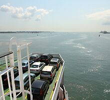 Red Funnel Ferry Crossing Southampton Water by Jonathan Cox
