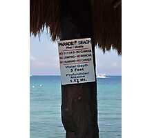 beach rules Photographic Print
