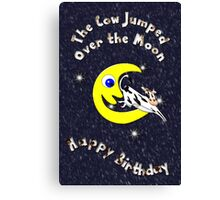 The Cow Jumped Over the Moon Canvas Print