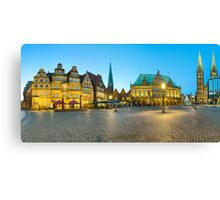 Panorama of Bremen Market Square, Germany Canvas Print
