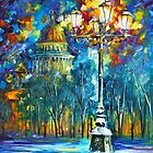 St. Petersburg Park - Oil painting on Canvas By Leonid Afremov by Leonid  Afremov