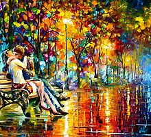 Passion Evening - Oil painting on Canvas By Leonid Afremov by Leonid  Afremov