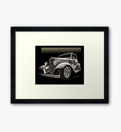 32 Ford Coupe Sketch of a Classic Street Rod Framed Print