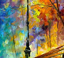 Aura of Autumn 2- Oil painting on Canvas By Leonid Afremov by Leonid  Afremov