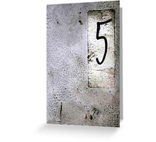 Top Five Grunge Bands Greeting Card