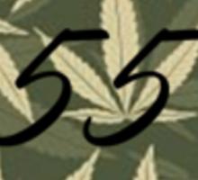 Weed pattern 55 logo Sticker