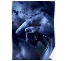 Thinking In Indigo Blues Poster
