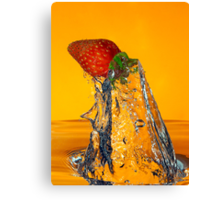 Fruit-Shark Attack! Canvas Print