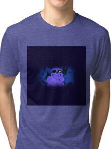 Undertale Sans Art Full Print (Blue Indigo Purple) Tri-blend T-Shirt