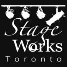 StageWorks Toronto Small Square Logo on dark Shirt by marinasinger