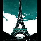 Eiffel Tower Art Poster Case by libbbyr