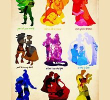 Disney Couple Silhouettes Case by libbbyr
