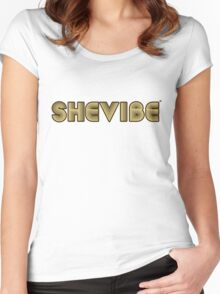 SheVbe 70's Retro Logo Women's Fitted Scoop T-Shirt