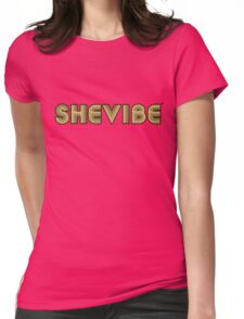 SheVbe 70's Retro Logo Womens Fitted T-Shirt