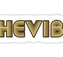 SheVbe 70's Retro Logo Sticker