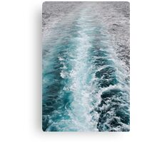 Deep blue wash from a boat Canvas Print