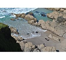 Cornwall cove with light and shadow Photographic Print