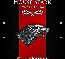 iPhone Cover - Game Of Thrones Stark Silver Wolf by Chibie