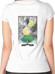 Gallifreyan moon Women's Fitted Scoop T-Shirt